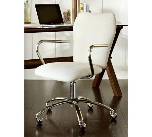 swivel desk chair - pottery barn