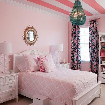 Pink Girl's Room, Transitional, girl's room, Benjamin Moore Touch of Pink, Liz Carroll Interiors