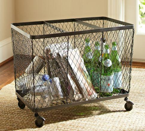 kendall recycling bin pottery barn. Black Bedroom Furniture Sets. Home Design Ideas