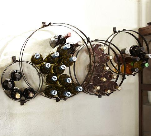 Decorative Wall Wine Rack rustic bronze finish wall mount wine rack