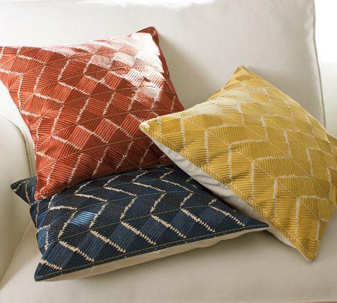 Phulkari Embroidered Pillow Cover - Pottery Barn