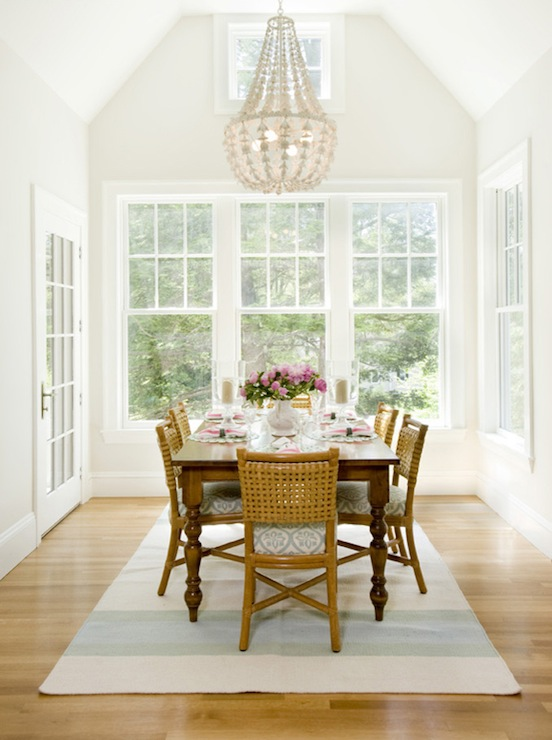 oly studio flower drop chandelier cottage dining room