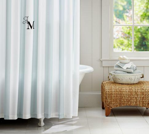 Pb Classic Stripe Shower Curtain Pottery Barn