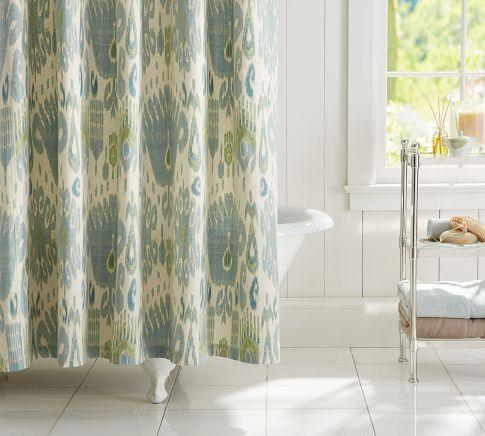 Vivian Ikat Shower Curtain Pottery Barn