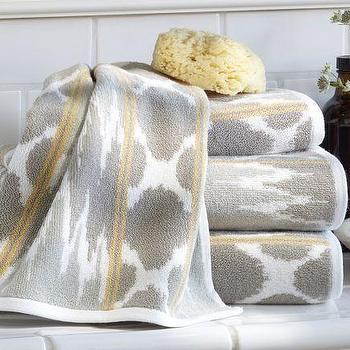 Dylan Ikat Jacquard Bath Towels, Pottery Barn