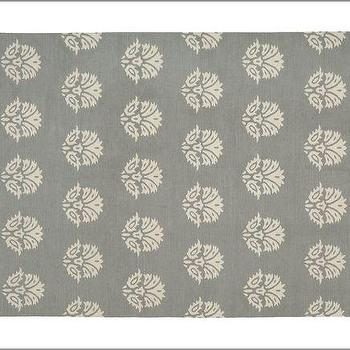 Enzo Medallion Dhurrie Rug, Gray, Pottery Barn