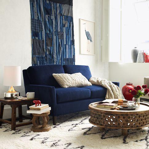 Fabulous Everett Upholstered Loveseat West Elm Machost Co Dining Chair Design Ideas Machostcouk
