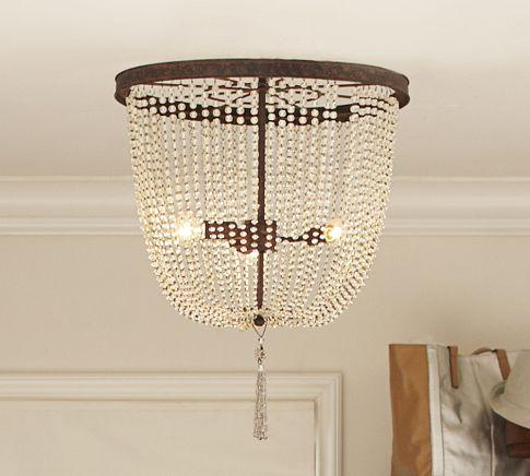 Arabella Beaded Chandelier Pottery Barn