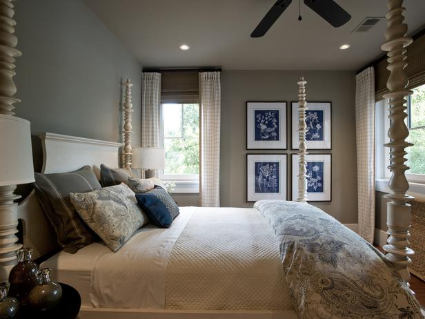 Taupe paint colors cottage bedroom sherwin williams for Blue and taupe bedroom ideas