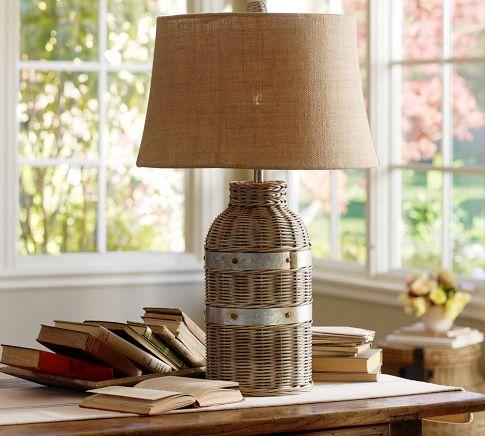 Wicker Table Lamp Base Pottery Barn
