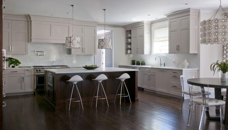 Tone Kitchen Contemporary Kitchen Kitchens By Deane - Light gray stained kitchen cabinets