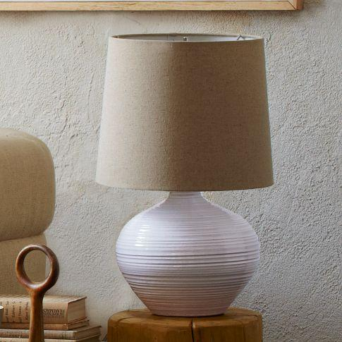 Channel ceramic table lamp small west elm aloadofball Images
