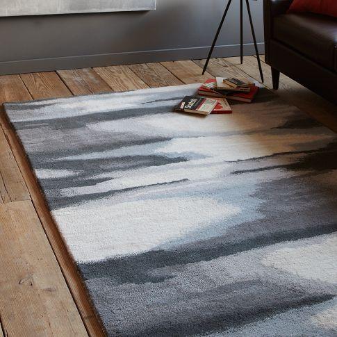 faded ikat rug west elm