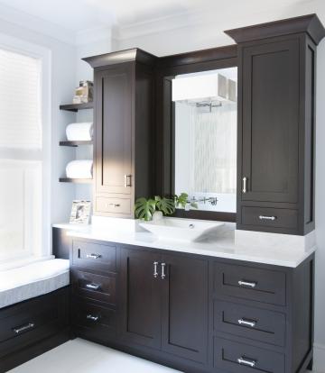 Espresso Cabinets Contemporary Bathroom Kitchens By