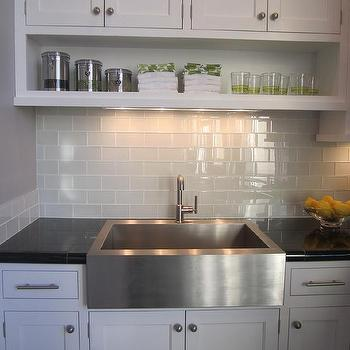 Kitchen Backsplash Glass Tile White Cabinets Kitchen Backsplash