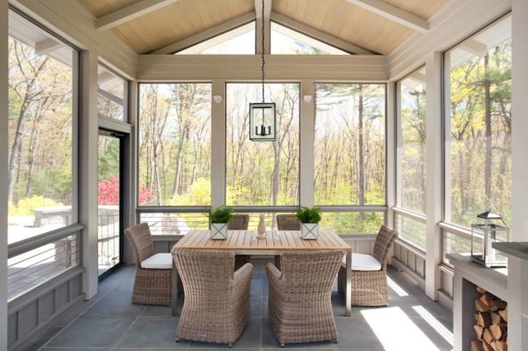 Enclosed Patio Contemporary Deckpatio Liz Caan