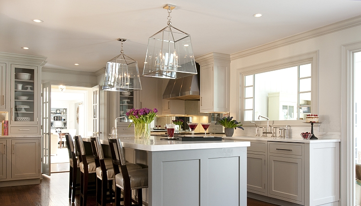Gray Kitchen Cabinets Contemporary Kitchen Kitchens By Deane