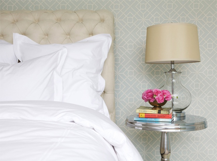Cream Tufted Headboard Contemporary Bedroom Mcgill