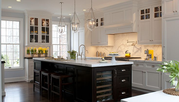 Kitchen Island Wine Cooler Transitional Kitchen Kitchens By Deane