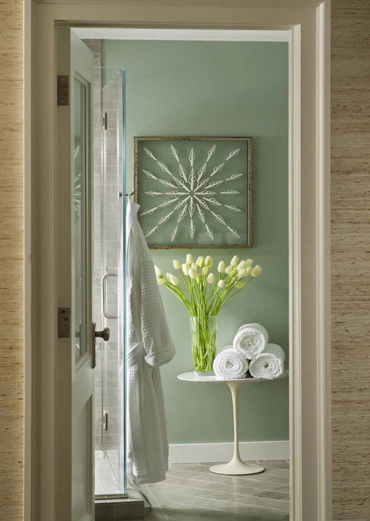 Sage green walls design ideas for Bathroom decor green walls