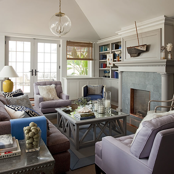Lilac And Gray Living Room Design Ideas