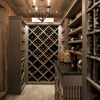 Wine room with exposed brick wall design decor photos for Wine cellar paint colors