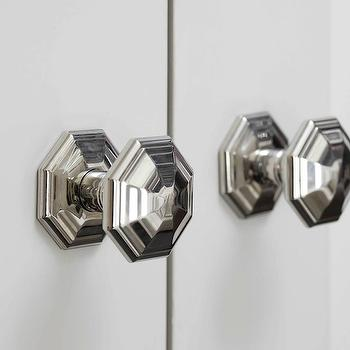 Octagonal Faceted Door Knobs