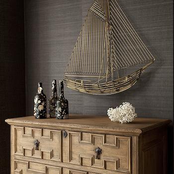 Fretwork Chest, Cottage, entrance/foyer, Philip Gorrivan Design