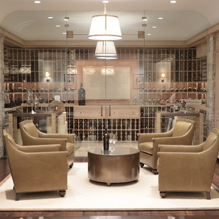 Wine cellar contemporary basement giannetti home - Home wine room ...