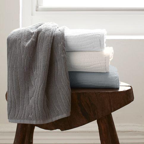 Organic Woodgrain Towel West Elm