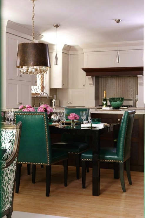 Emerald Green Dining Chairs Design Ideas – Green Leather Dining Chairs