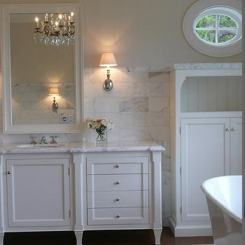 Cream Wall Paint- Transitional, bathroom, Farrow & Ball Slipper Satin, Giannetti Home