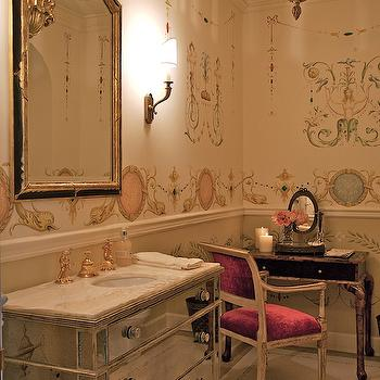 Mirrored Bathroom Vanity, French, bathroom, Giannetti Home