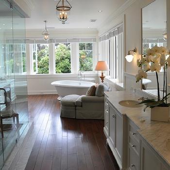 Cream Wall Paint, Traditional, bathroom, Farrow & Ball Slipper Satin, Giannetti Home