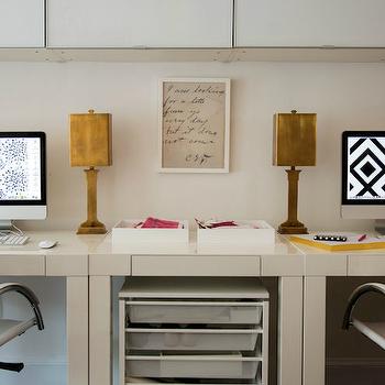 Mini Parsons Desk, Contemporary, den/library/office, Liz Caan Interiors