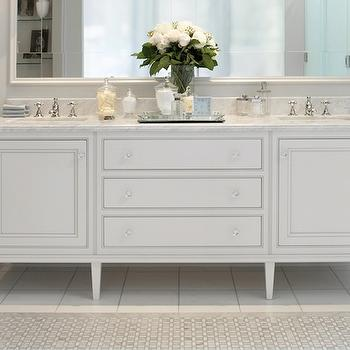Double Sink Console, Transitional, bathroom, Downsview Kitchens