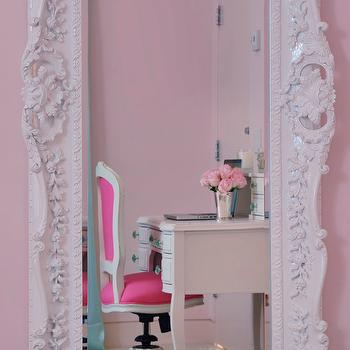Rococo Floor Mirror, Contemporary, girl's room, Dyfari Interiors