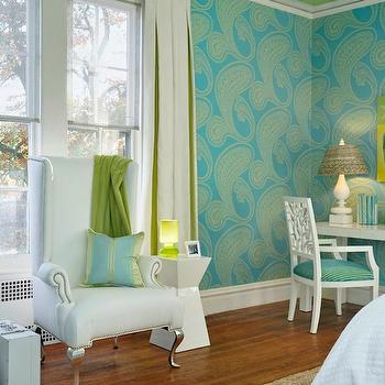 Delightful Turquoise And Green Girlu0027s Room