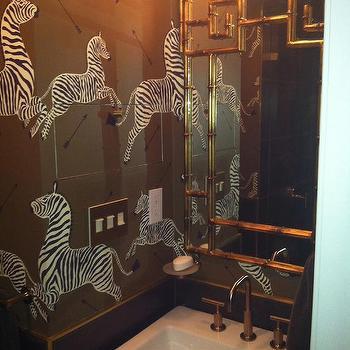 Brown Zebra Wallpaper