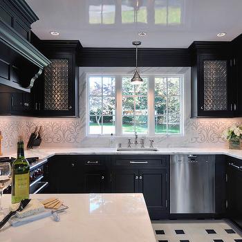 Black and White Kitchen, Contemporary, kitchen, Dyfari Interiors