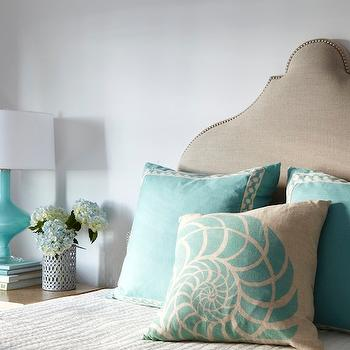 Turquoise Lamp, Transitional, bedroom, Tracery Interiors
