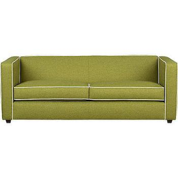 Superbe Club Moss Sofa With Piping In All New   CB2