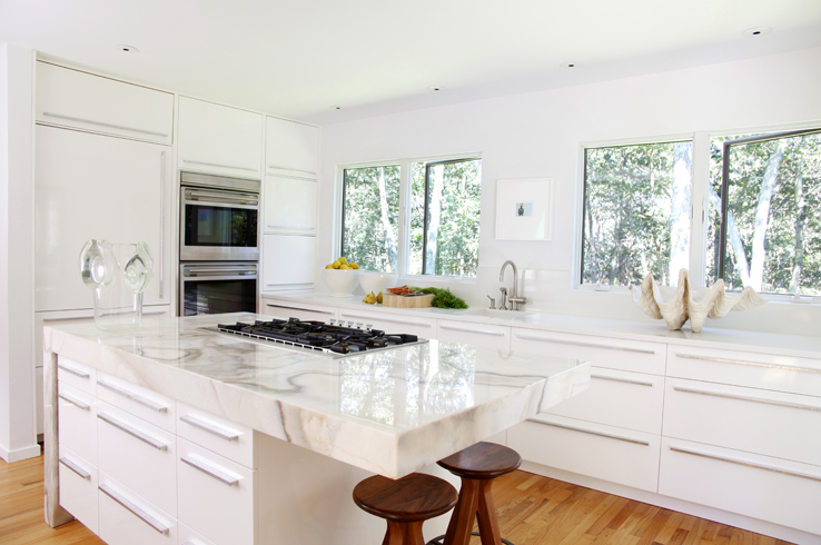 All White Kitchens modern white barstools design ideas