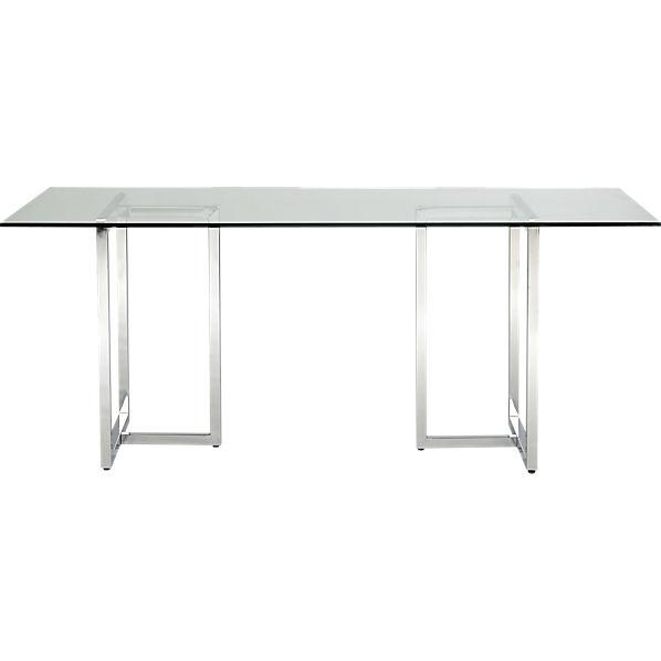 silverado rectangular dining table cb2 On cb2 dining room table