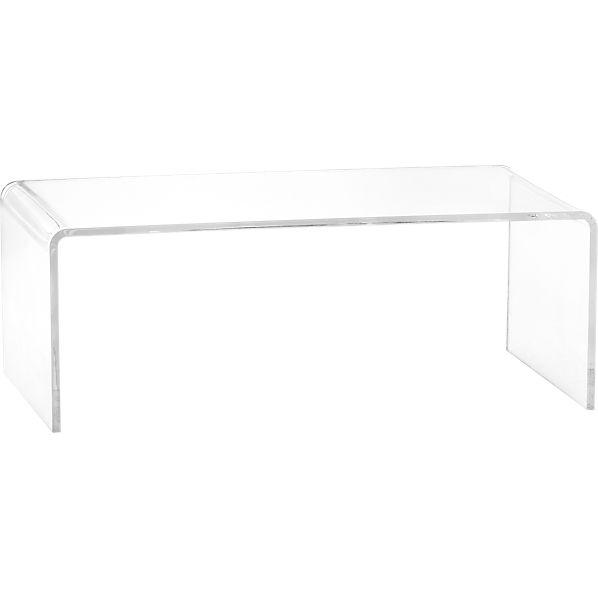 Peekaboo clear coffee table cb2 for Clear coffee table