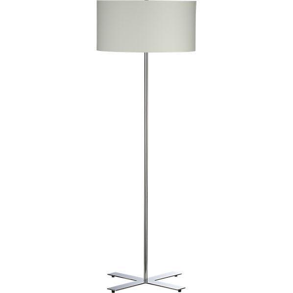 X Chrome Floor Lamp   CB2