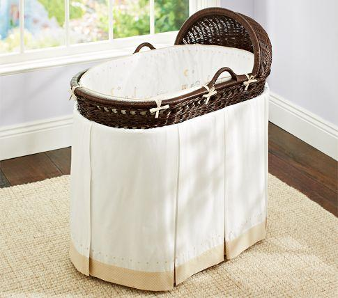 leigh bassinet bedding pottery barn kids - Bassinet Bedding