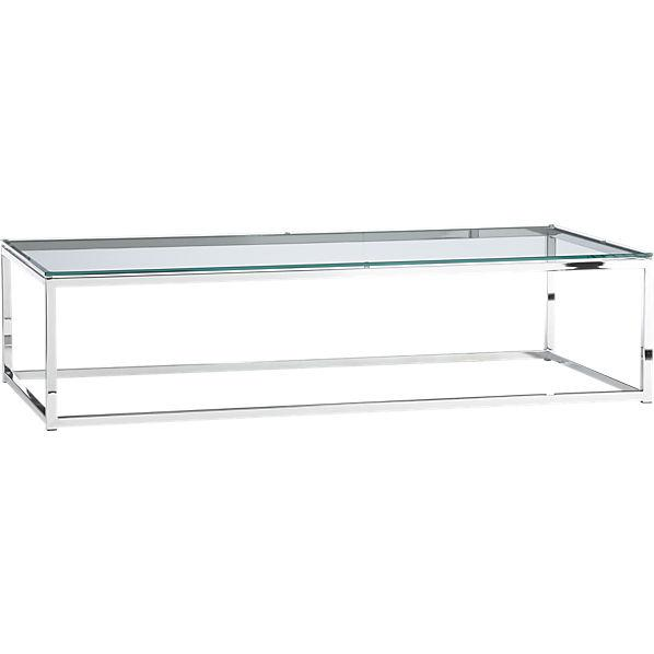 Smart Glass Top Coffee Table CB - Cb2 smart glass coffee table