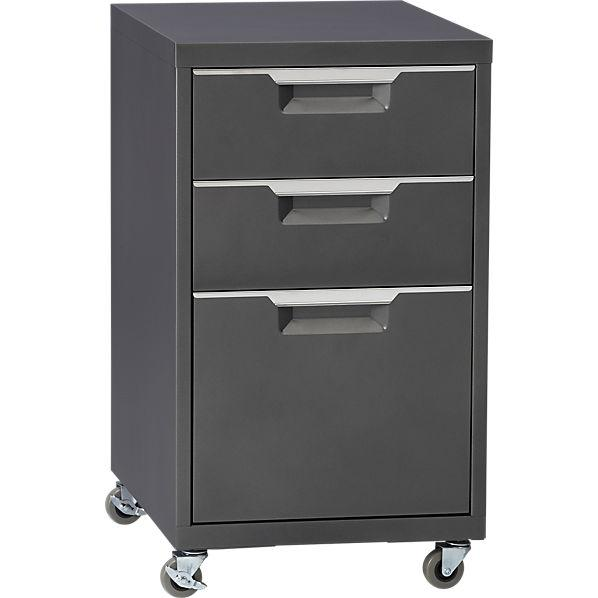 TPS Carbon File Cabinet   CB2 Link On Pinterest View Full Size