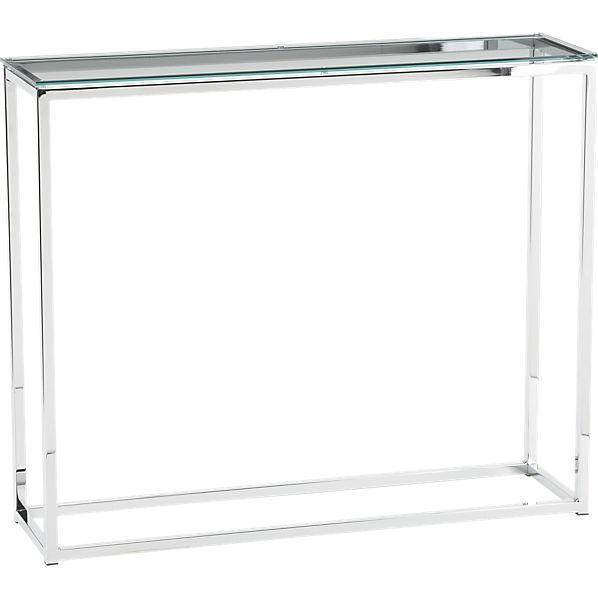 Smart Glass Top Console Table CB - Cb2 sofa table